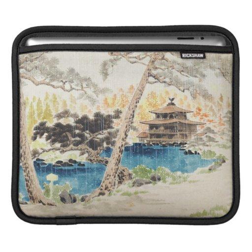 Escenas de los lugares sagrados, templo de Kinkaku Funda Para iPads