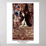 Escenas de Madonna del rosario de Guido Reni Poster