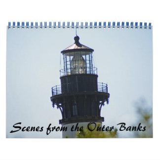 Escenas de Outer Banks Calendario De Pared