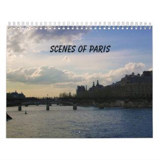 Escenas de París Calendario De Pared