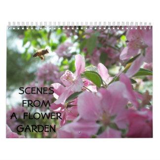 Escenas de un jardín de flores calendario