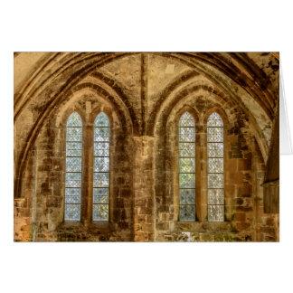Escenas de una abadía francesa tarjeta pequeña
