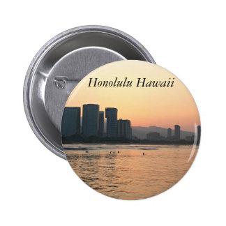 Escenas del botón de Hawaii Pin Redondo De 2 Pulgadas