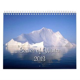 Escenas del calendario del invierno 2013