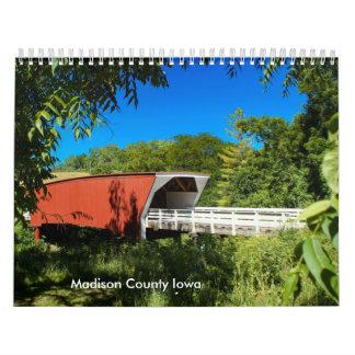 Escenas del condado de Madison Iowa Calendarios De Pared