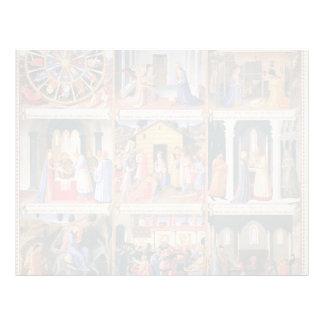 Escenas del Fra Angelico- a partir de la vida de C Plantillas De Membrete