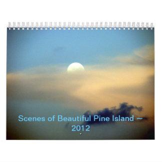 Escenas del ~ hermoso 2012 de la isla del pino calendarios de pared