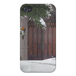 Escenas del invierno del navidad iPhone 4/4S funda
