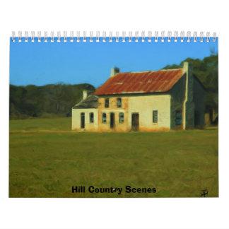 Escenas del país de la colina calendario