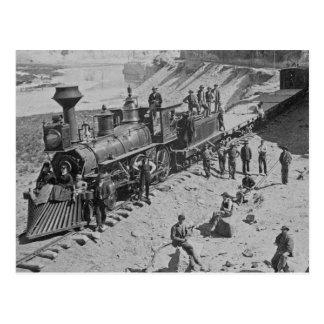 Escenas en el ferrocarril pacífico B&W de la unión Tarjetas Postales