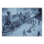 Escenas en el ferrocarril pacífico de la unión ciá tarjeta