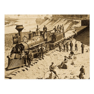 Escenas en la sepia pacífica del ferrocarril de la postales