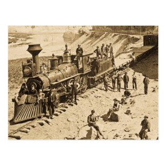 Escenas en la sepia pacífica del ferrocarril de la tarjetas postales