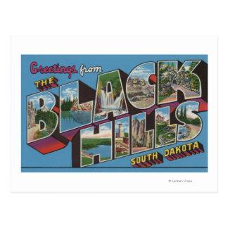 Escenas grandes de la letra - Black Hills, SD Postal