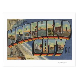 Escenas grandes de la letra - ciudad de Morehead, Tarjetas Postales