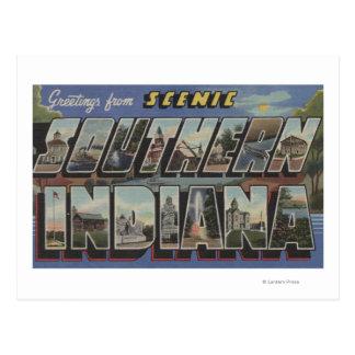 Escenas grandes de la letra de Indiana meridional Tarjeta Postal