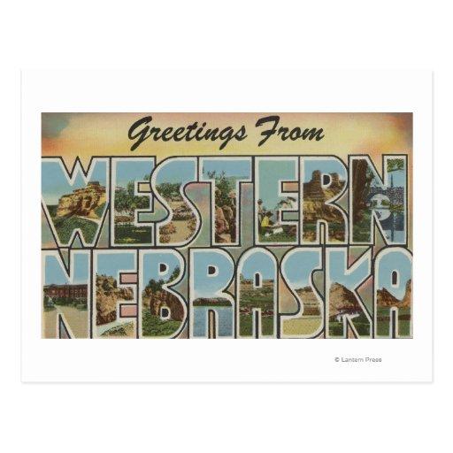 Escenas grandes de la letra de Nebraska Tarjetas Postales