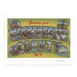 Escenas grandes de la letra - el condado de postal