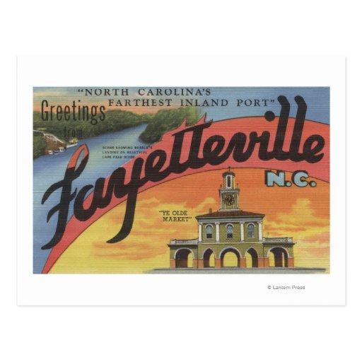 Escenas grandes de la letra - Fayetteville, NC Postales