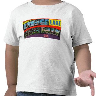 Escenas grandes de la letra, saludos a partir del camisetas
