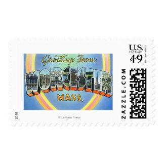 Escenas grandes de la letra - saludos a partir del sellos postales