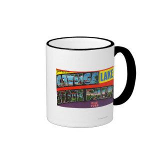 Escenas grandes de la letra, saludos a partir del  tazas de café