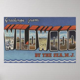 Escenas grandes de la letra - Wildwood-Por--Mar, N Póster