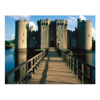 Escenas inglesas, castillo de Bodiam, Sussex Postales