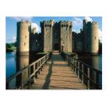Escenas inglesas, castillo de Bodiam, Sussex Tarjetas Postales