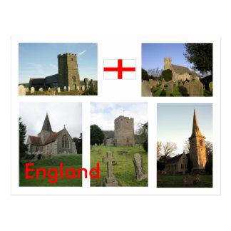 Escenas inglesas de la iglesia - modificadas para tarjeta postal