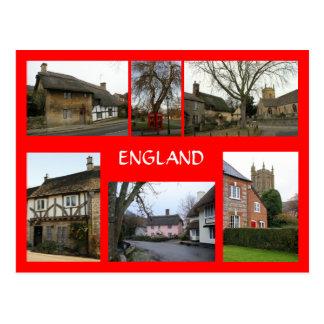 Escenas inglesas del pueblo tarjetas postales