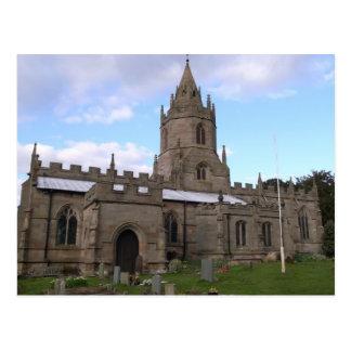 Escenas inglesas, iglesia de las pinzas, Shropshir Postal