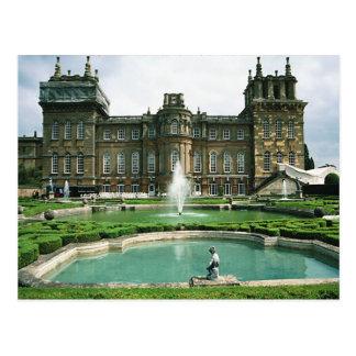 Escenas inglesas, palacio de Blenheim Postal