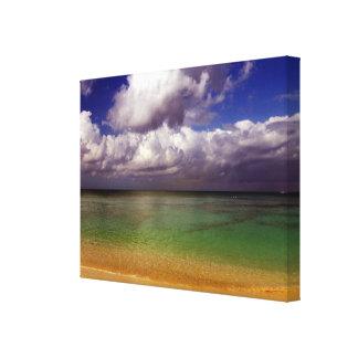 Escenas inspiradas de la playa del arte de Cavas d Impresiones En Lona Estiradas