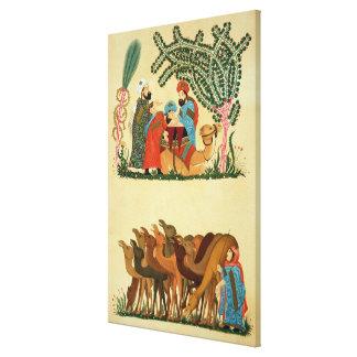 Escenas tomadas de un manuscrito del 'Maqamat de Lienzo Envuelto Para Galerias