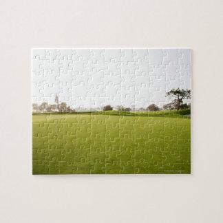 Escénico, golf, campo de golf, hierba, paisaje, puzzles con fotos