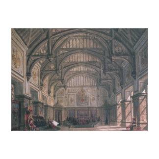 Escenografía para el acto III del juego 'Henry VII Lona Envuelta Para Galerias