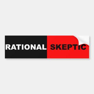 Escéptico racional pegatina para auto