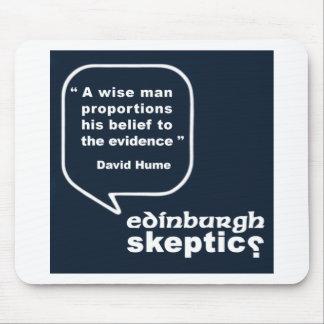 Escépticos de Edimburgo - cita de Hume Tapetes De Ratones