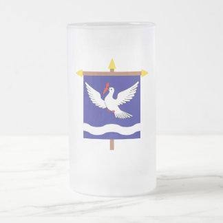 Eschen Armorial Banner on Crossbar 16 Oz Frosted Glass Beer Mug
