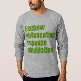 Eschew Obfuscation AA Long Sleeve T-shirt
