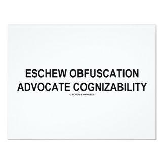 Eschew Obfuscation Advocate Cognizability Oxymoron Card
