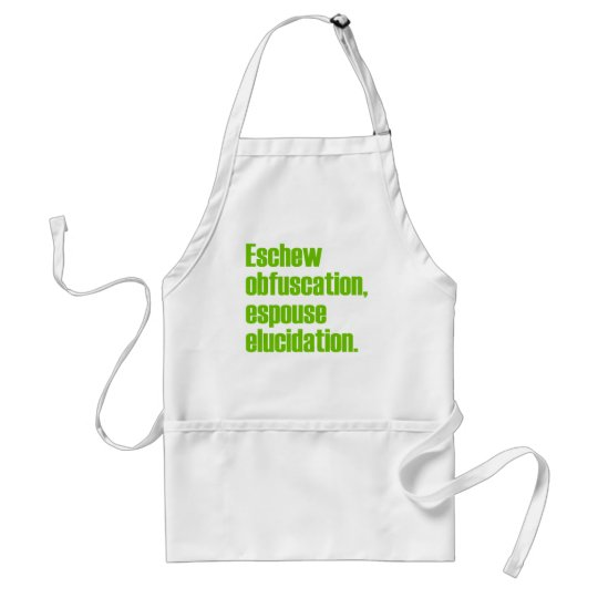 Eschew Obfuscation Aprons
