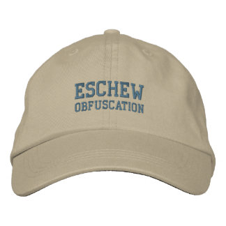 ESCHEW OBFUSCATION cap Embroidered Baseball Caps
