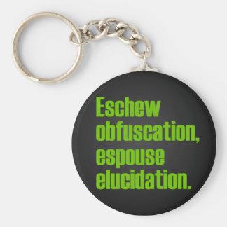 Eschew Obfuscation Keychain