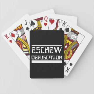 Eschew Obfuscation Poker Cards