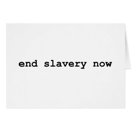 esclavitud del final ahora felicitaciones