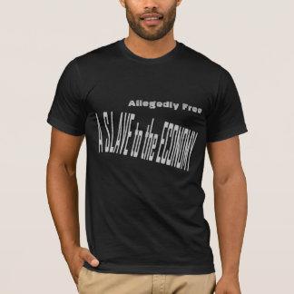 Esclavo a la camiseta de la economía