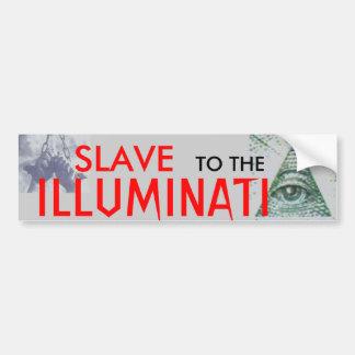 Esclavo al Illuminati que ve al pegatina del ojo Etiqueta De Parachoque