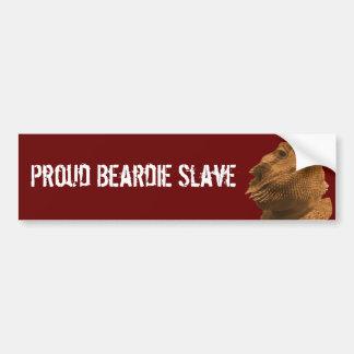 Esclavo de Beardie Pegatina Para Auto